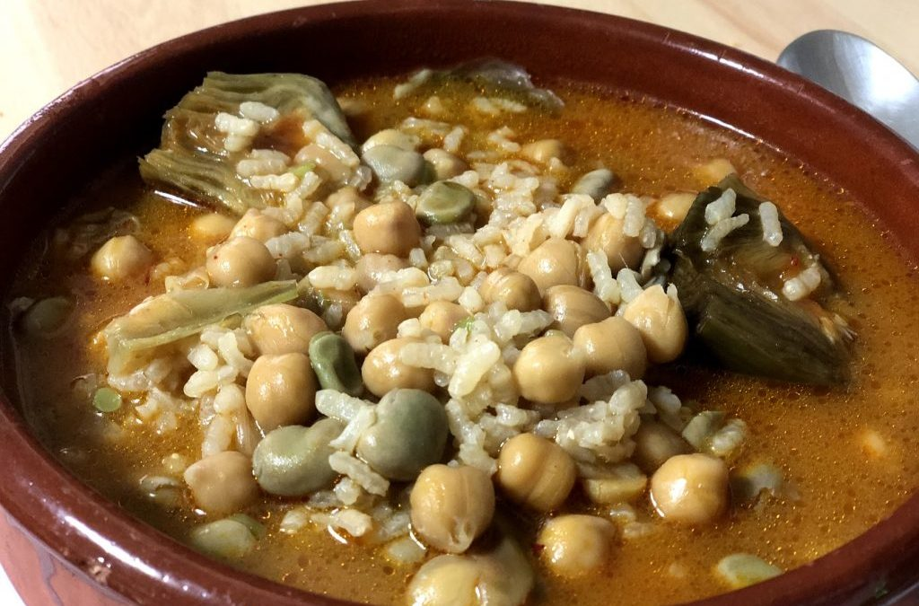 Garbanzos, arroz y verduras con TM60 (0)