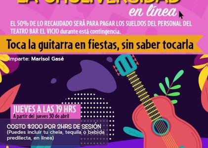 Toca la guitarra en fiestas, sin saber tocarla