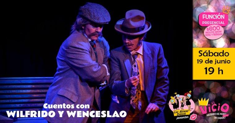 Evento en Facebook Cuentos con Wilfrido y Wenceslao en El Vicio