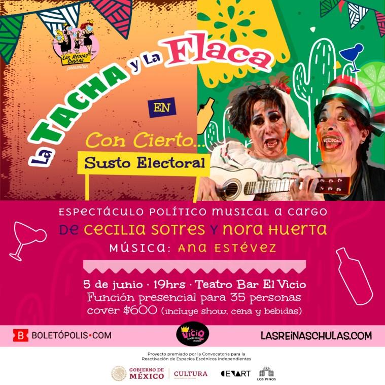La Tacha y la Flaca - Función presencial de Las Reinas Chulas en El Vicio