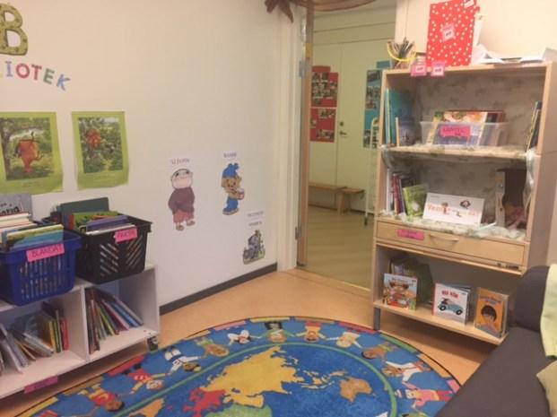 Salvägens förskola har redan påbörjat sitt förskolebibliotek