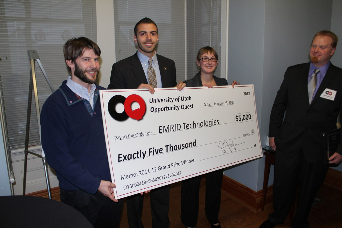 EMRID Technologies, U student startup, wins $5,000 at OQ.
