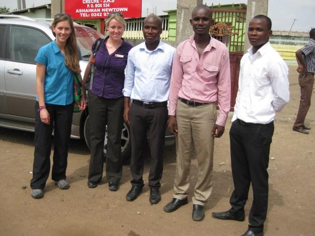 Marian Bonar  (far left) traveled to Ghana through the Lassonde Social Entrepreneurship Program.