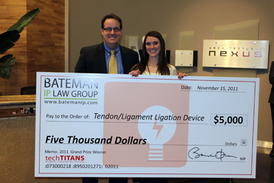 U student wins $5,000 in techTITANS competition.