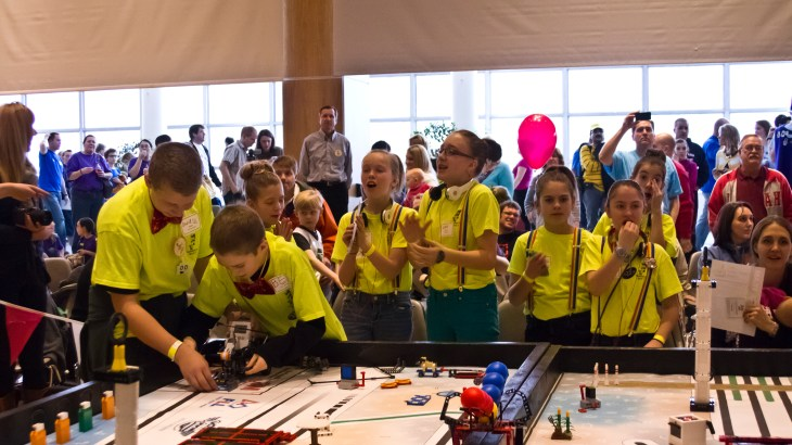 Lassonde hosts LEGO League to promote innovation in youth.