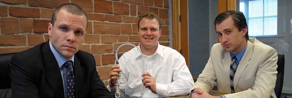 U student founders- developed product, Lightline Catheter, kills bacteria.