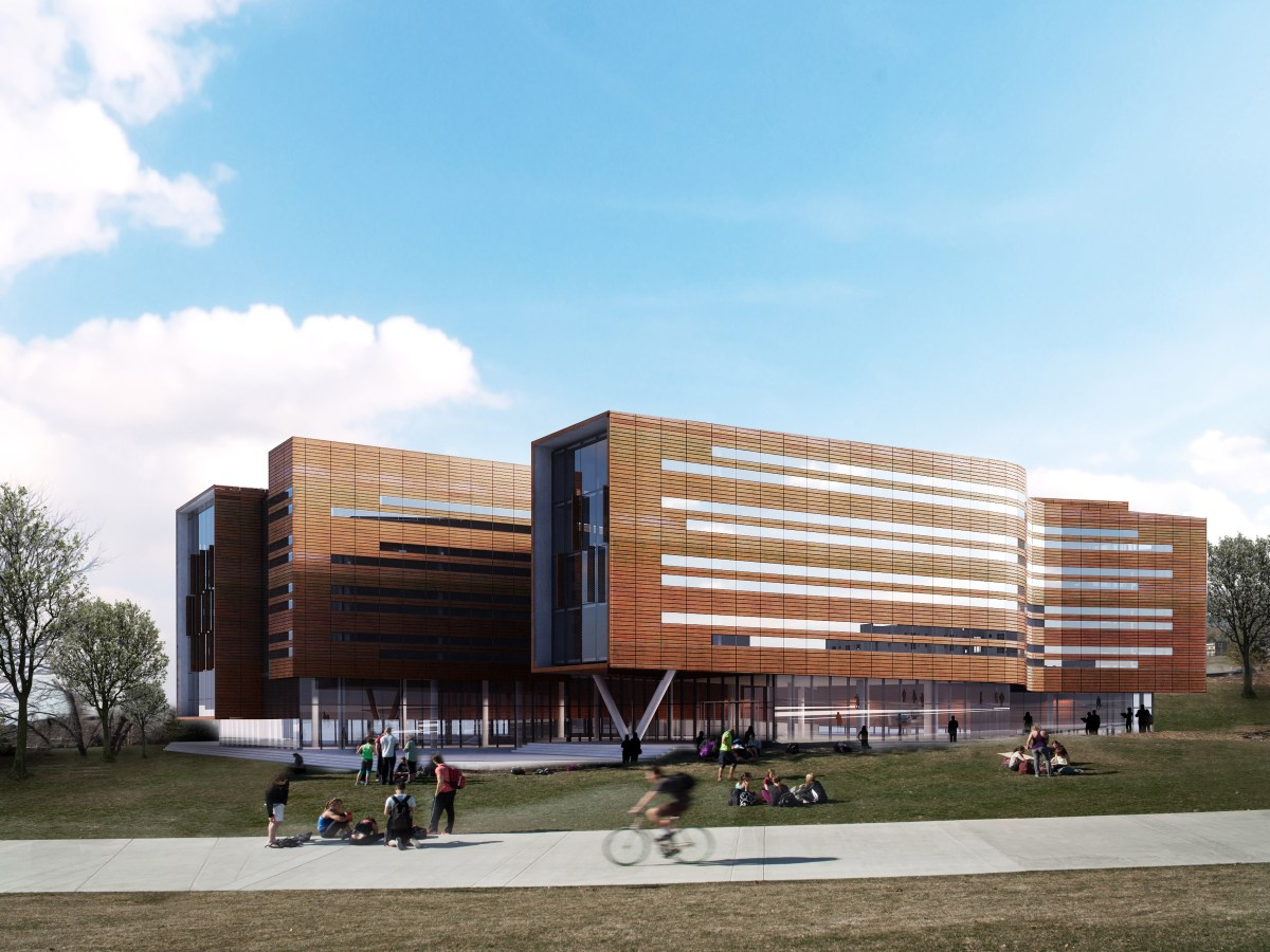 Digital rendering of Lassonde Studios at the University of Utah.