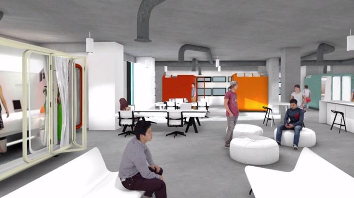 Digitally rendered virtual tour of Lassonde Studios.