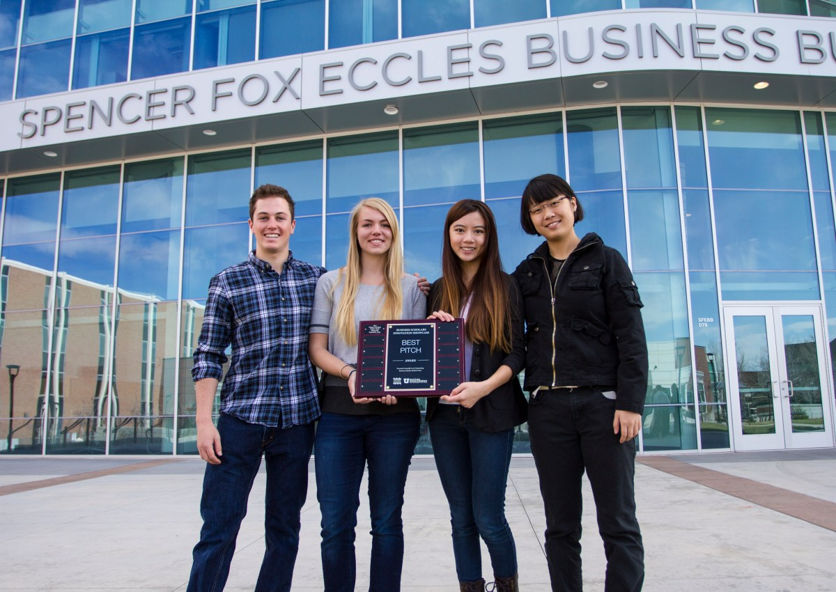 Winners from the 2014 Business Scholars Innovation Showcase.