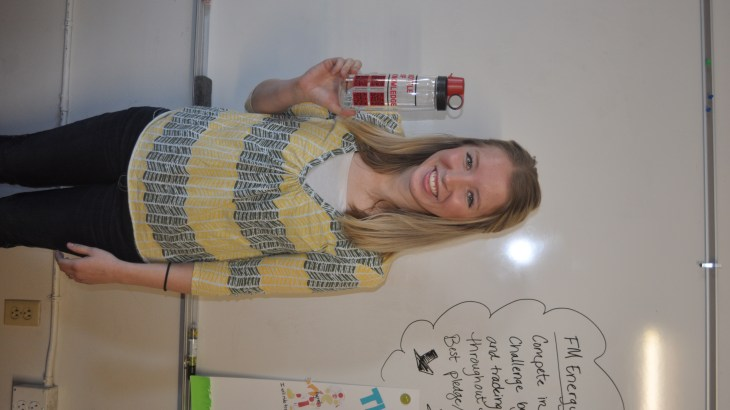U's Sustainability Campus Initiative Fund helps students distribute bottles at orientation to reduce waist.
