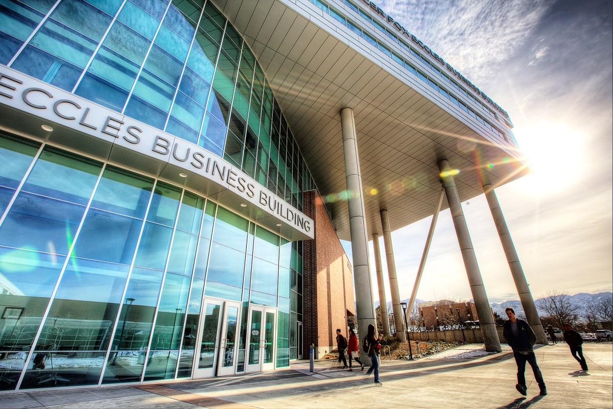 Spencer Fox Eccles Business Building exterior shots 2014