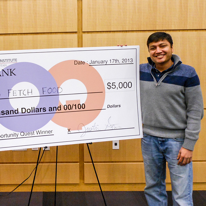 U startup, Fetch Food, wins 2013 Opportunity Quest, funded by Zion's Bank.