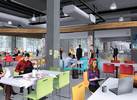 Mockup of garage available to students at Lassonde Studios.