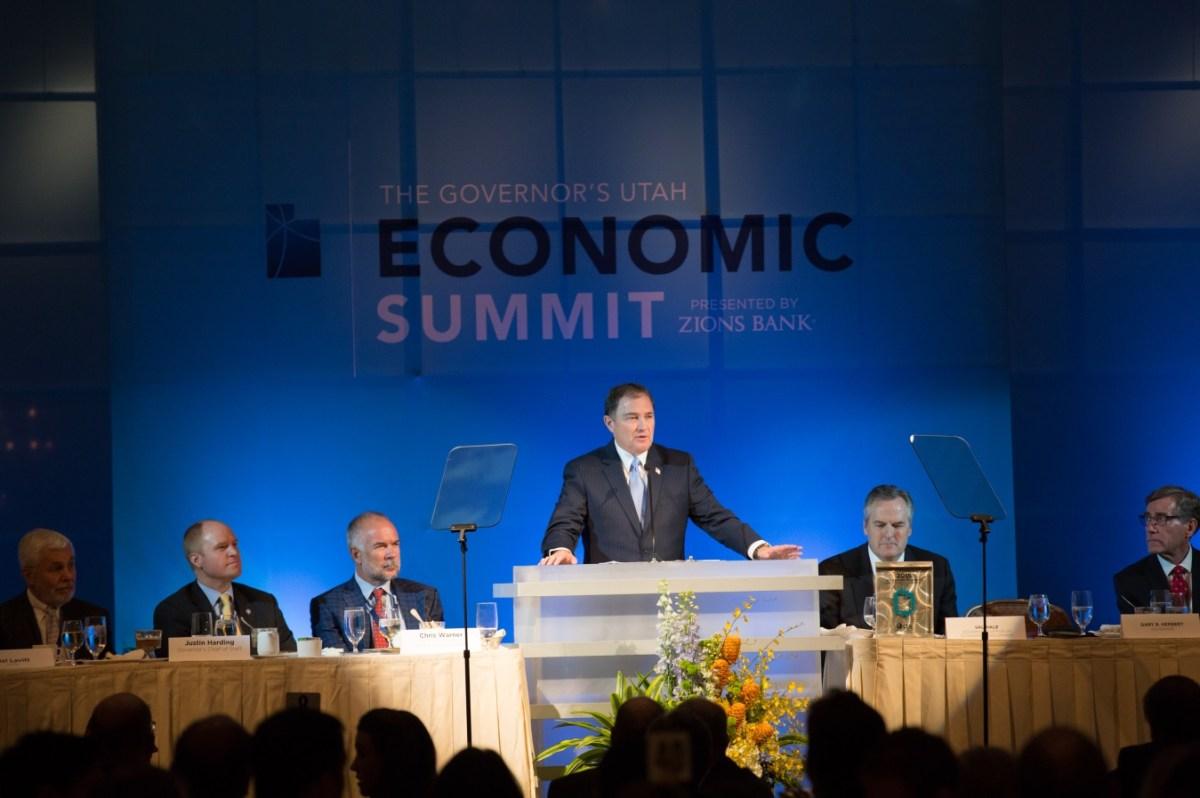 Governor Gary Herbert at the Utah Economic Summit.