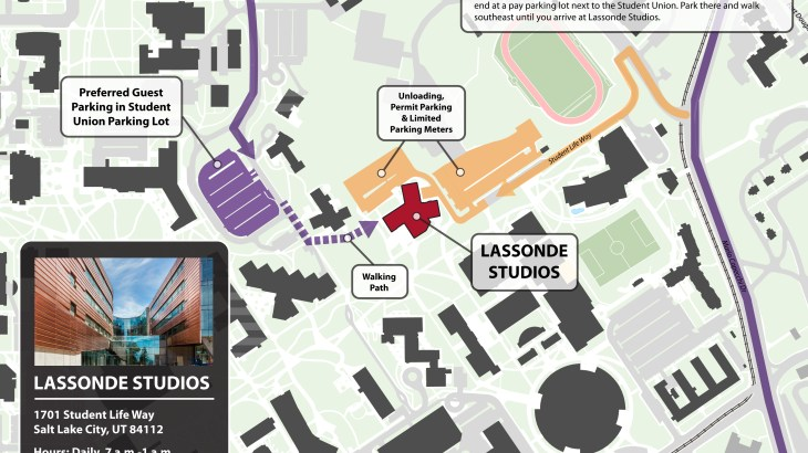 Lassonde Studios Parking Map