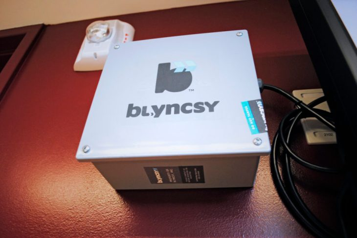 Blyncsy device at the University of Utah
