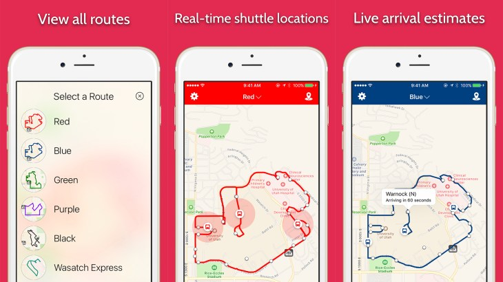 University of Utah Shuttle Tracker