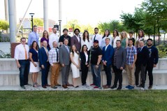 The first class of founders in the Master of Business Creation program.