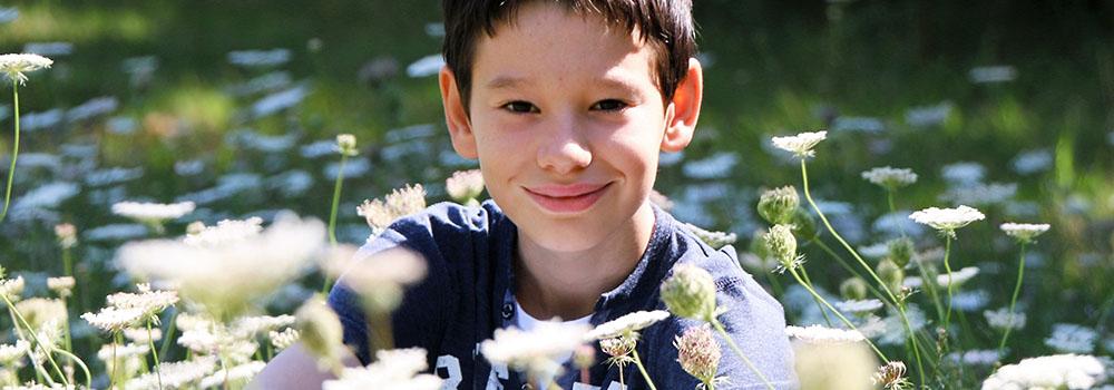 Gaël ds les fleurs