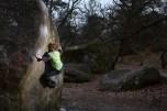 Fontainebleau boulder Controle Technique 7c Sloper mantle Font Bleau