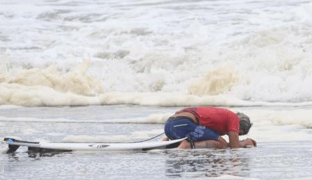 五十嵐カノア「海の神様にありがとう」