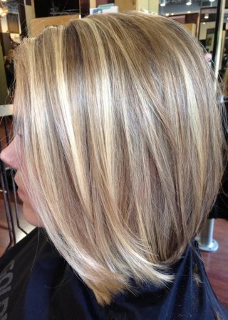 Мелирование редкое на русые волосы