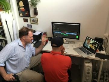 Julian and Phil next door working on the edit!