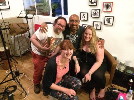 David, Mike, Tiffani and Lu at the end of a great day of recording and filming!