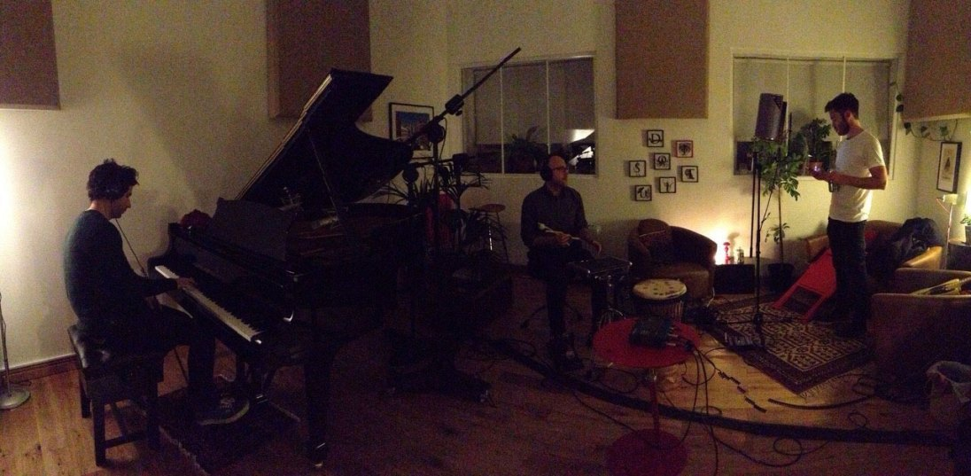 Zola Blood making acoustic recording of Grace