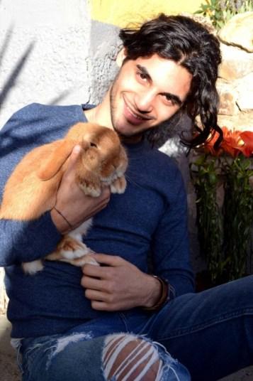 io con il coniglio