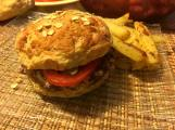 Burger végé et frite sans gras : Sebastien Santo