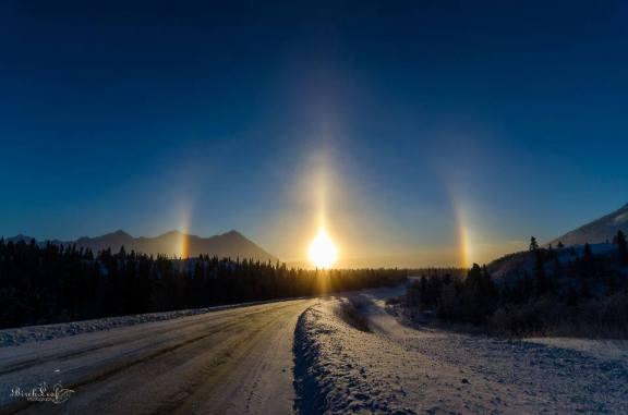Sun Halo, Sun Dogs and Sun Pillar