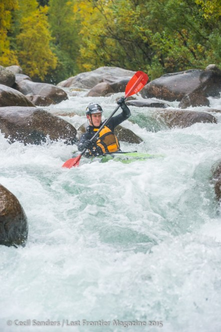 White water kayaking on the Little Su River. www.cecilsandersphotography.com