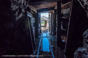 Exiting a mining tunnel. www.cecilsandersphotography.com