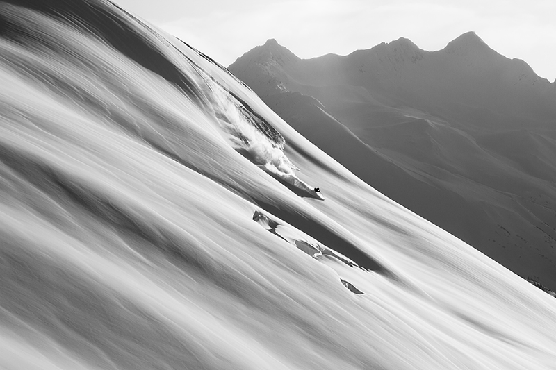 Joshua Foreman living his dream of perfect conditions in the Kenai Mountains.