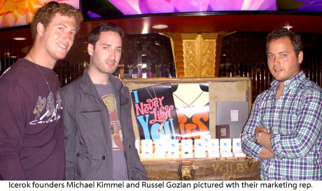 Icerok founders and marketing rep at 2008 GBK MTV movie award gift suite
