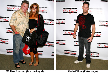 William Shatner and Kevin Dillon at the Main Event Red Carpet Lounge