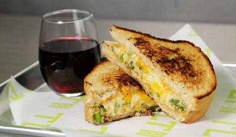 Must try Blue Crab Grilled Cheese