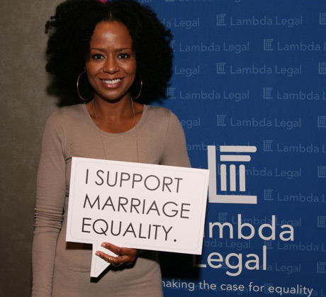 Tempestt Bledsoe with Lambda Legal