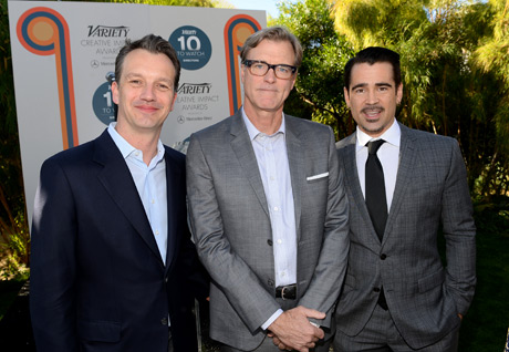 (L-R) President of Walt Disney Studios Motion Picture Production, Sean Bailey, writer John Lee Hancock and actor Colin Farrell