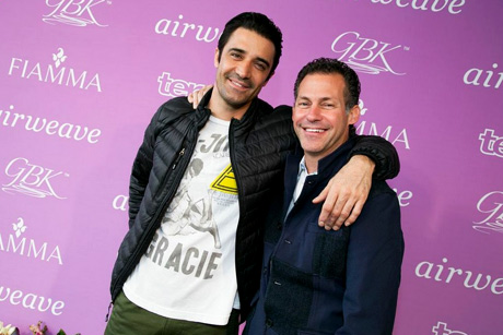 Actor Gilles Marini with GBK founder Gavin Keilly.