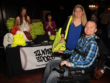 Tracy Keil and her wounded warrior husband Matthew Keil with the Zumer Sport team - Igor Spektor