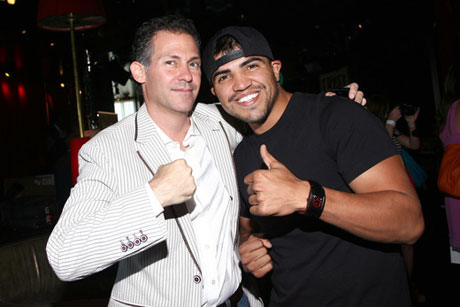 GBK CEO Gavin Gavin Keilly and boxer Victor Ortiz