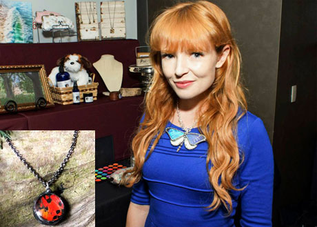 Stef Dawson of The Hunger Games movies with Debra's Divine Designs.
