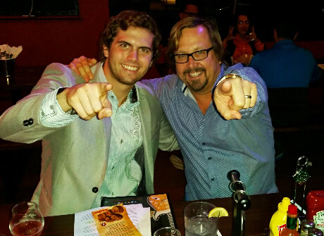 LA's The Place Tyler Emery with Rock and Brews Co-founder, Michael Zislis.
