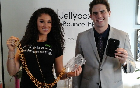 Christian Santa and LATP's Tyler Emery with Jellyboxx.