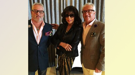 Matt and Mark Harris with the Diva of all Divas, Joan Collins!