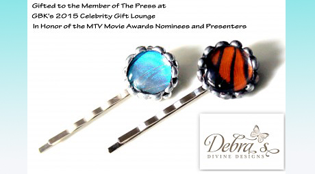 Debra's Divine Designs Butterfly hair pins