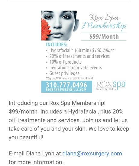 Rox Spa Membership