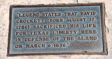 Marker of Crockett's death.